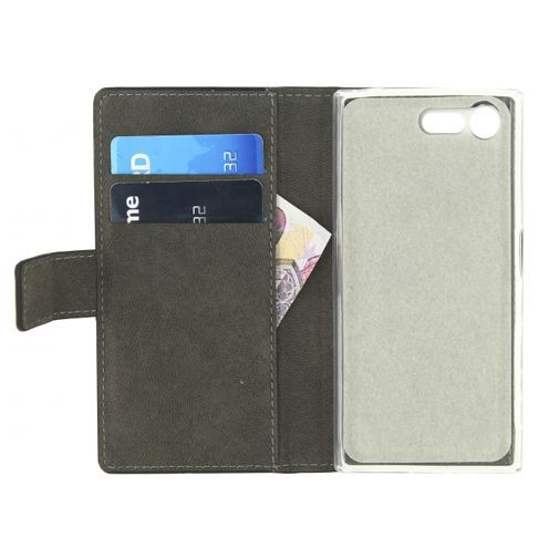 Productafbeelding van de Mobilize Classic Gelly Wallet Book Case Black Sony Xperia X Compact