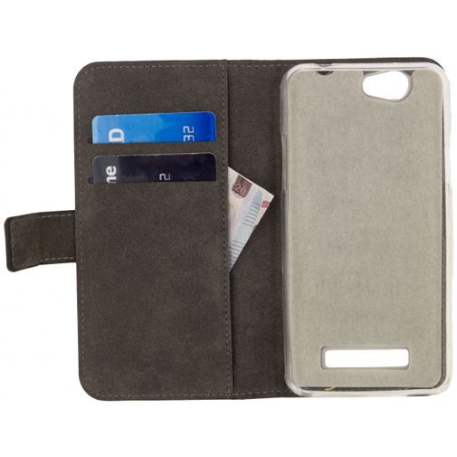 Productafbeelding van de Mobilize Classic Gelly Wallet Book Case Black Wileyfox Spark+