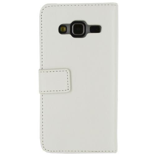 Productafbeelding van de Mobilize Classic Gelly Wallet Book Case White Samsung Galaxy J3 2016