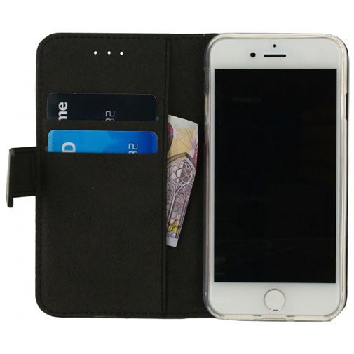 Productafbeelding van de Mobilize Classic Gelly Wallet Book Case Black Apple iPhone 6/6S/7/8/SE 2020