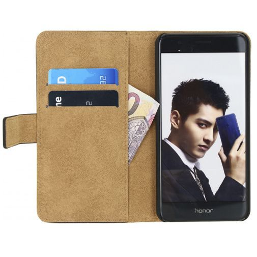 Productafbeelding van de Mobilize Classic Wallet Book Case Black Honor 8