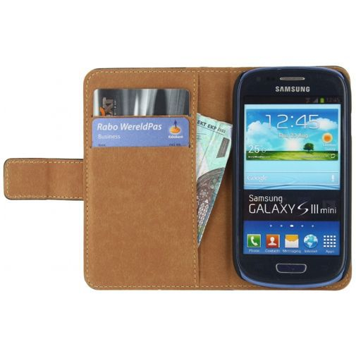 Productafbeelding van de Mobilize Classic Wallet Book Case Black Samsung Galaxy S3 Mini (VE)