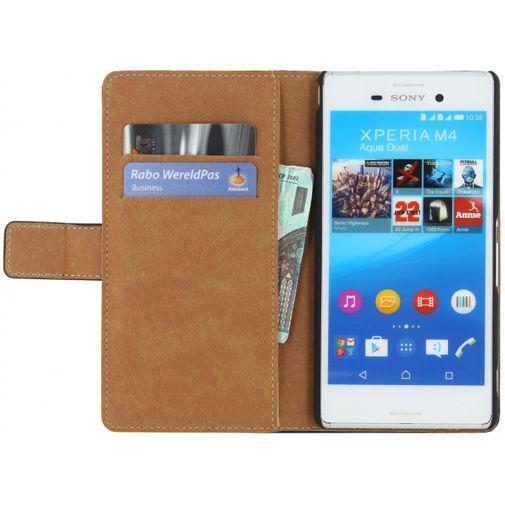 Productafbeelding van de Mobilize Classic Wallet Book Case Black Sony Xperia M4 Aqua