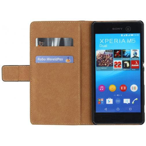 Productafbeelding van de Mobilize Classic Wallet Book Case Black Sony Xperia M5