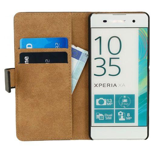 Productafbeelding van de Mobilize Classic Wallet Book Case Black Sony Xperia XA
