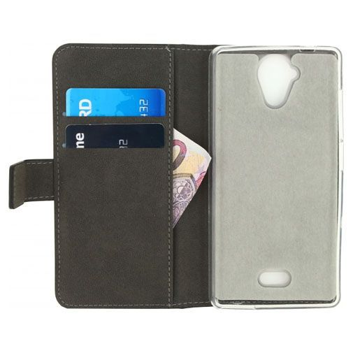 Productafbeelding van de Mobilize Classic Gelly Wallet Book Case Black Wiko Ufeel Lite