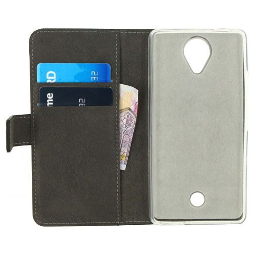 Productafbeelding van de Mobilize Classic Gelly Wallet Book Case Black Wiko Ufeel