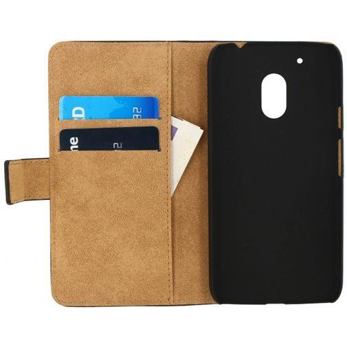 Productafbeelding van de Mobilize Classic Wallet Book Case Black Motorola Moto G4 Play