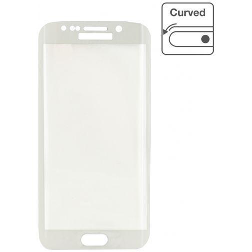 Productafbeelding van de Mobilize Edge-To-Edge Glass Screenprotector Samsung Galaxy S6 Edge White