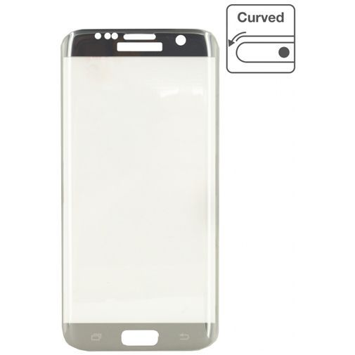 Productafbeelding van de Mobilize Edge-To-Edge Glass Screenprotector Samsung Galaxy S7 Edge Silver