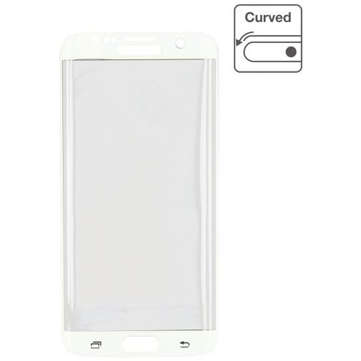 Productafbeelding van de Mobilize Edge-To-Edge Glass Screenprotector Samsung Galaxy S7 Edge White