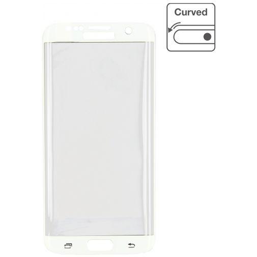 Productafbeelding van de Mobilize Edge-To-Edge Glass Screenprotector Samsung Galaxy S7 White