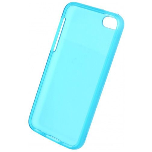 Productafbeelding van de Mobilize Gelly Case Transparent Turqoise Apple iPhone 5C