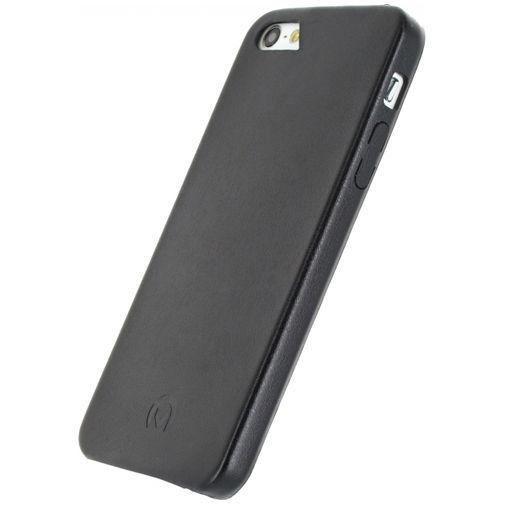 Productafbeelding van de Mobilize Leather Case Black Apple iPhone 5/5S/SE