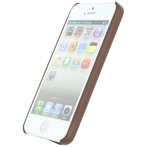 Productafbeelding van de Mobilize Leather Case Brown Apple iPhone 5/5S/SE
