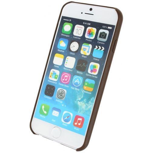 Productafbeelding van de Mobilize Leather Case Brown Apple iPhone 6/6S