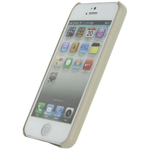 Productafbeelding van de Mobilize Leather Case Creamy White Apple iPhone 5/5S/SE