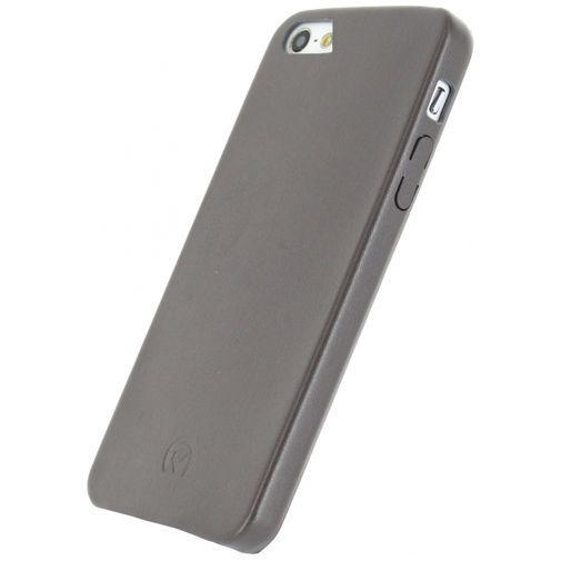 Productafbeelding van de Mobilize Leather Case Grey Apple iPhone 5/5S/SE