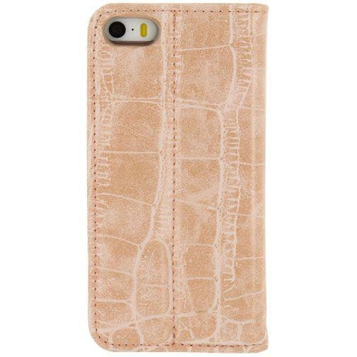 Productafbeelding van de Mobilize Premium Magnet Book Case Alligator Coral Pink Apple iPhone 5/5S/SE