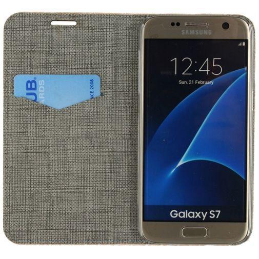 Productafbeelding van de Mobilize Premium Magnet Book Case Alligator Coral Pink Samsung Galaxy S7