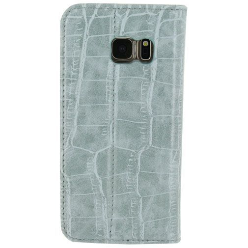 Productafbeelding van de Mobilize Premium Magnet Book Case Alligator Mystic Blue Samsung Galaxy S7