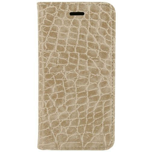 Productafbeelding van de Mobilize Premium Magnet Book Case Alligator Peanut Brown Apple iPhone 5/5S/SE