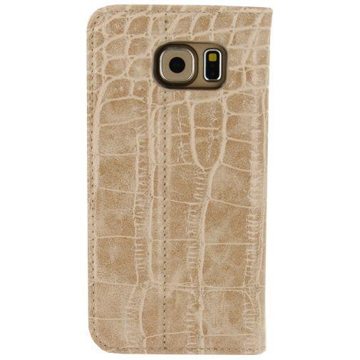 Productafbeelding van de Mobilize Premium Magnet Book Case Alligator Peanut Brown Samsung Galaxy S6