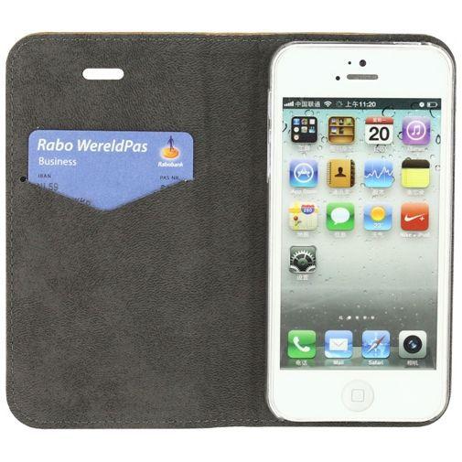 Productafbeelding van de Mobilize Premium Magnet Book Case Brown Apple iPhone 5/5S/SE