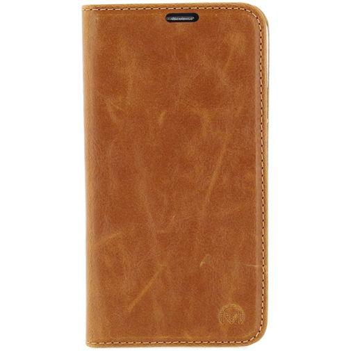 Productafbeelding van de Mobilize Premium Magnet Book Case Brown Samsung Galaxy S5/S5 Plus/S5 Neo