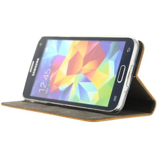 Productafbeelding van de Mobilize Premium Magnet Book Case Brown Samsung Galaxy S5/S5 Plus/S5 Neo