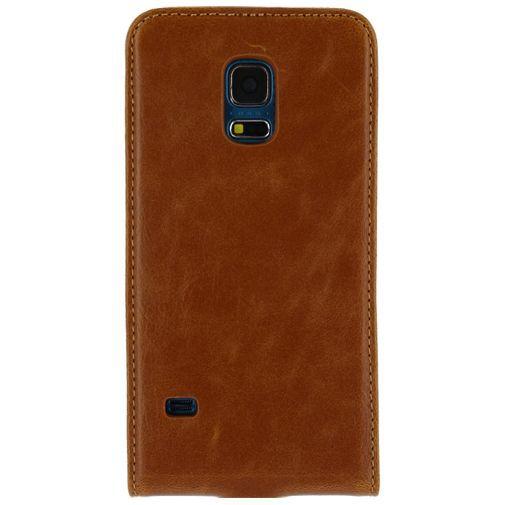 Productafbeelding van de Mobilize Premium Magnet Flip Case Brown Samsung Galaxy S5 Mini