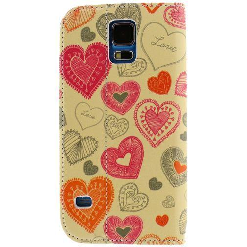 Productafbeelding van de Mobilize Premium Magnet Stand Wallet Book Case Cupid Samsung Galaxy S5/S5 Plus/S5 Neo