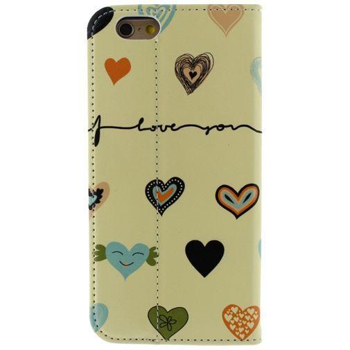 Productafbeelding van de Mobilize Premium Magnet Stand Wallet Book Case I Love You Apple iPhone 6/6S