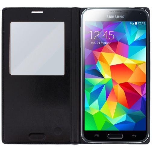 Productafbeelding van de Mobilize S-View Leather Cover Black Samsung Galaxy S5/S5 Plus/S5 Neo