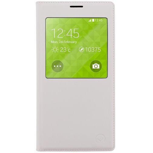 Productafbeelding van de Mobilize S-View Leather Cover White Samsung Galaxy S5/S5 Plus/S5 Neo