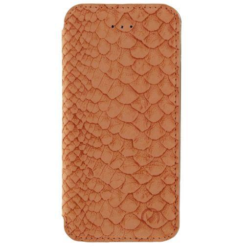 Productafbeelding van de Mobilize Slim Booklet Soft Snake Apricot Apple iPhone 5/5S/SE