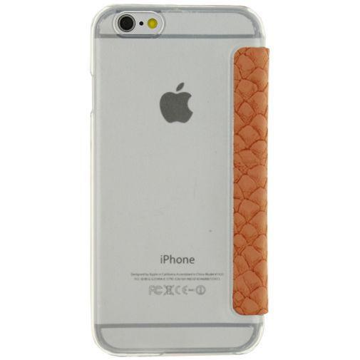 Productafbeelding van de Mobilize Slim Booklet Soft Snake Apricot Apple iPhone 6/6S
