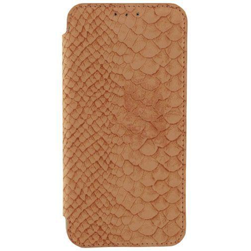 Productafbeelding van de Mobilize Slim Booklet Soft Snake Apricot Samsung Galaxy S6