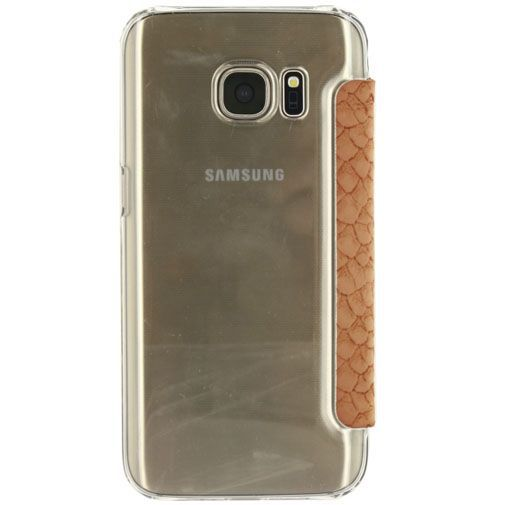 Productafbeelding van de Mobilize Slim Booklet Soft Snake Apricot Samsung Galaxy S7