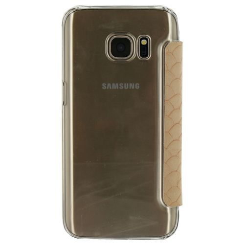 Productafbeelding van de Mobilize Slim Booklet Soft Snake Creamy Rose Samsung Galaxy S7