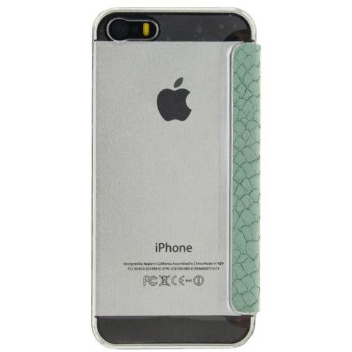 Productafbeelding van de Mobilize Slim Booklet Soft Snake Wild Moss Apple iPhone 5/5S/SE
