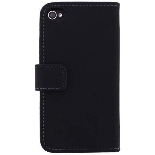 Productafbeelding van de Mobilize Slim Wallet Book Case Black Apple iPhone 4/4S