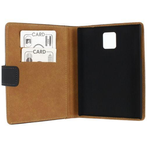 Productafbeelding van de Mobilize Slim Wallet Book Case Black BlackBerry Passport