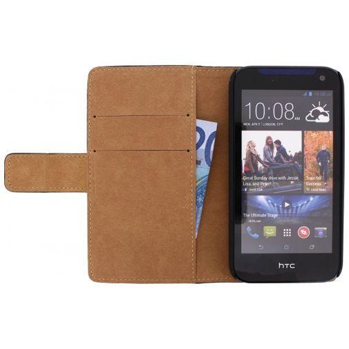 Productafbeelding van de Mobilize Slim Wallet Book Case Black HTC Desire 310