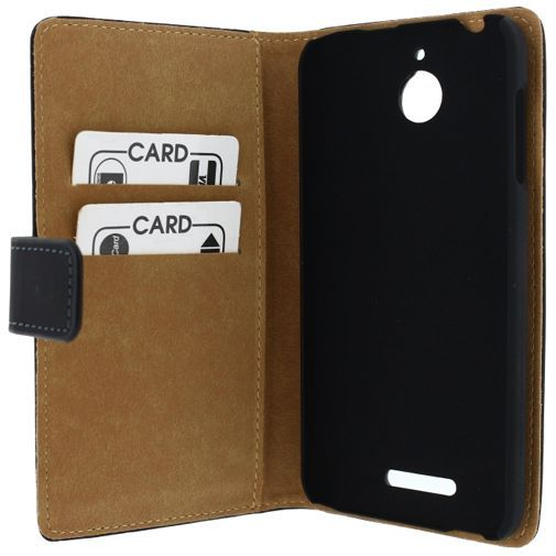 Productafbeelding van de Mobilize Slim Wallet Book Case Black HTC Desire 510