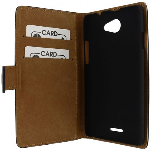 Productafbeelding van de Mobilize Slim Wallet Book Case Black HTC Desire 516