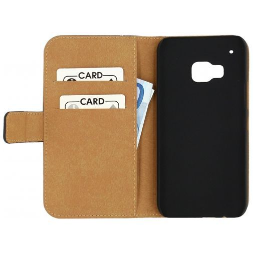 Productafbeelding van de Mobilize Slim Wallet Book Case Black HTC One M9