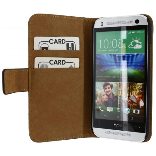 Productafbeelding van de Mobilize Slim Wallet Book Case Black HTC One Mini 2