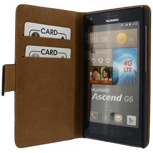 Productafbeelding van de Mobilize Slim Wallet Book Case Black Huawei Ascend G6 4G