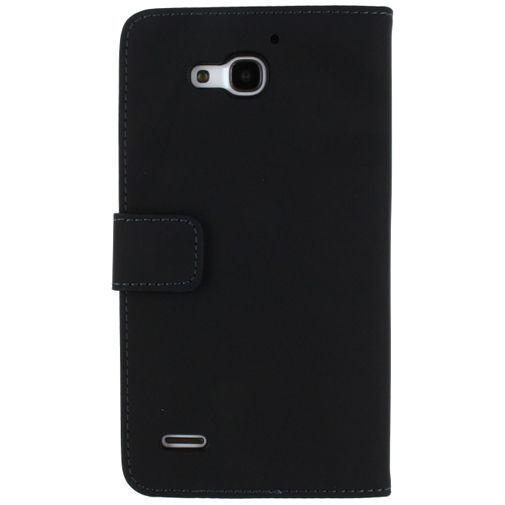 Productafbeelding van de Mobilize Slim Wallet Book Case Black Huawei Ascend G750